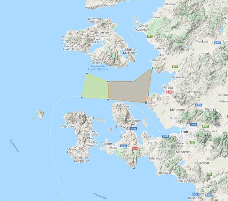 Νέες Navtex της Τουρκίας για ασκήσεις με πραγματικά πυρά νότια της Λέσβου - Φωτογραφία 2
