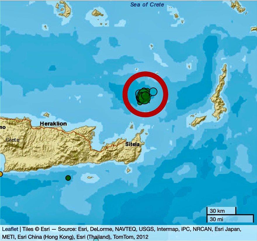 Σει Κρήτη: Πάνω από 25 δονήσεις μέσα σε 18 ώρες - Φωτογραφία 1