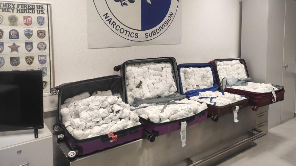 Ελ. Βενιζέλος: Αλλοδαποί προσπάθησαν να περάσουν 100 κιλά ναρκωτικών σε βαλίτσες - Φωτογραφία 1