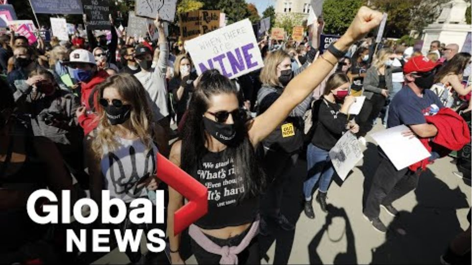 ΗΠΑ: Χιλιάδες γυναίκες διαδηλώνουν κατά του διορισμού της Έιμι Κόνεϊ Μπάρετ - Φωτογραφία 2