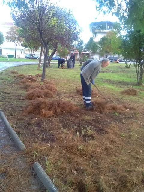 Εργασίες συντήρησης και ευπρεπισμού του πάρκου του Αστακού. - Φωτογραφία 1