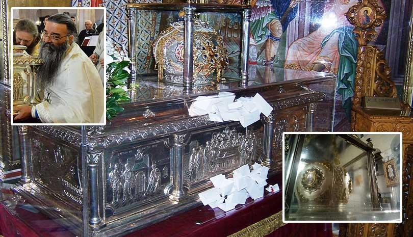 Ρέει Μύρο η Κάρα του Αγίου Δημητρίου του Μυροβλύτη στη Θεσσαλονίκη (φωτογραφίες) - Φωτογραφία 1