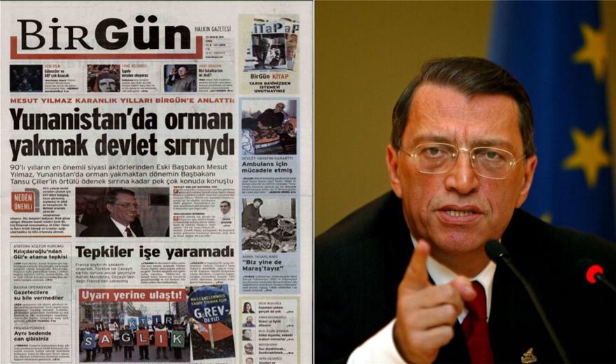 Μεσούτ Γιλμάζ: Όταν αποκάλυπτε πως η τουρκική ΜΙΤ έκαψε ελληνικά δάση - Φωτογραφία 2