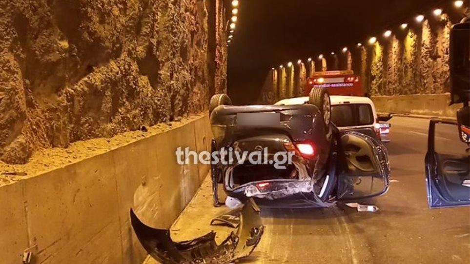 Θεσσαλονίκη: Καραμπόλα οχημάτων σε τούνελ της Τούμπας-φωτος - Φωτογραφία 1
