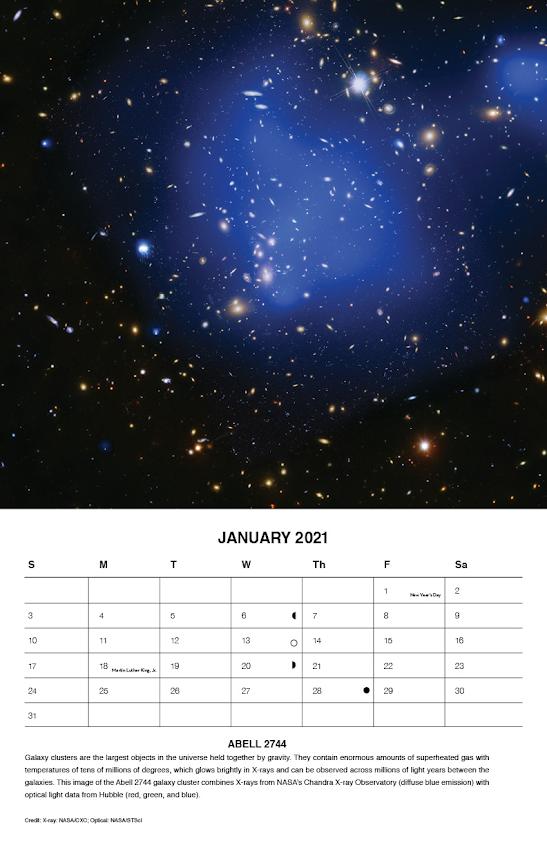 Ημερολόγιο 2021 από το διαστημικό τηλεσκόπιο Chandra της NASA - Φωτογραφία 2
