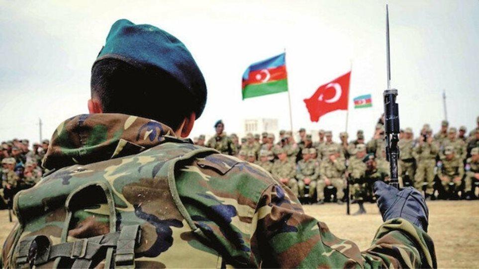 Τούρκοι στρατιώτες στο Αζερμπαϊτζάν για την επιτήρηση της εκεχειρίας - Φωτογραφία 1