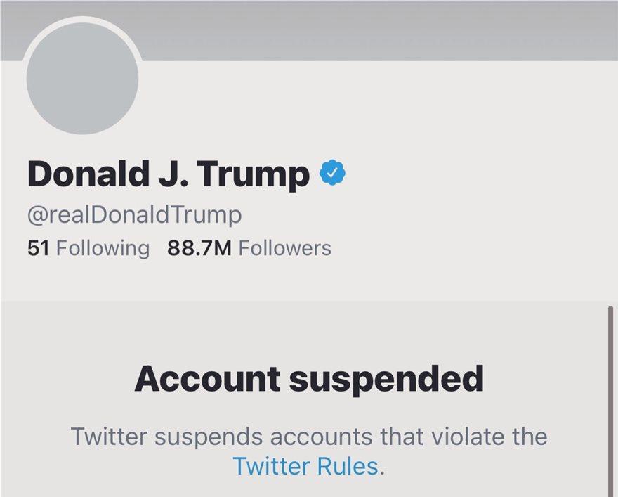 Το twitter «κατέβασε» μόνιμα τον λογαριασμό του Τραμπ - Φωτογραφία 2