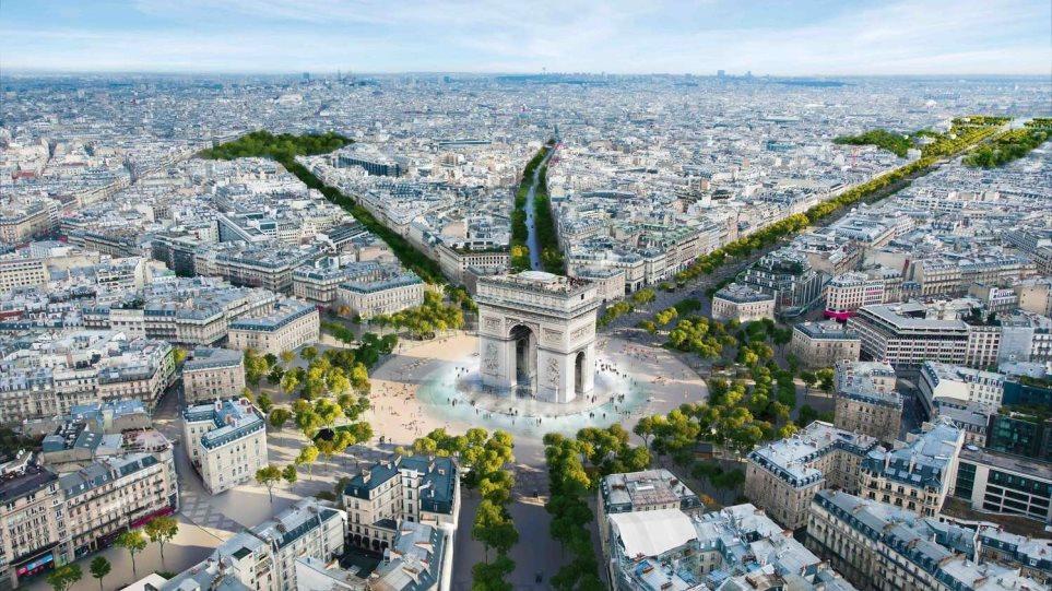 Παρίσι κάνει «λίφτινγκ» - Η θρυλική λεωφόρος Champs-Élysées μετατρέπεται σε απέραντο κήπο - Φωτογραφία 1