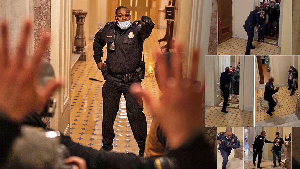 Εισβολή στο Καπιτώλιο: Ο «ήρωας» αστυνομικός που προτάθηκε για το «Χρυσό Μετάλλιο του Κογκρέσου» - Φωτογραφία 1