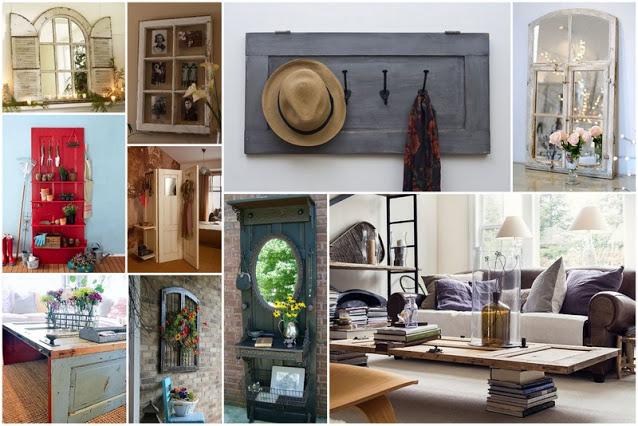 50+ Κατασκευές για το σπίτι από Παλιά Παράθυρα - Πόρτες - Φωτογραφία 1