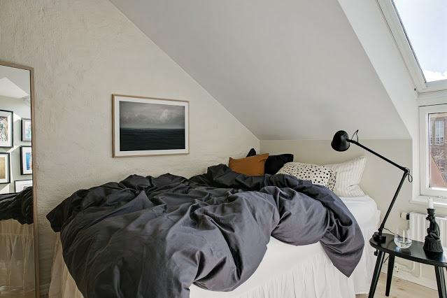 Mοντέρνo στυλ και ξεχωριστή διαμόρφωση - διακόσμηση σε σοφίτα 35τμ - Φωτογραφία 15