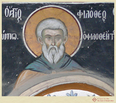 Άγιος Φιλόθεος, κτήτορας μονής Φιλοθέου (10ος αι.) / Saint Philotheos, founder of Philotheou monastery (10th c.) - Φωτογραφία 1