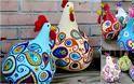 DIY Διακοσμητικές πασχαλινές φιγούρες από αποξηραμένες κολοκύθες