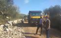 Συμβαίνει τώρα: Ξεκίνησαν εργασίες ανακατασκευής του επαρχιακού δρόμου Βαλόστρατο - Παλαιομάνινα