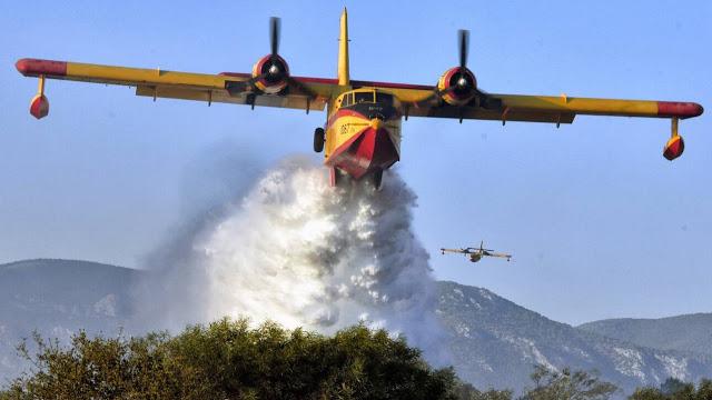 Σε εξέλιξη φωτιά σε δασική έκταση στο Χιλιομόδι Κορινθίας - Φωτογραφία 1