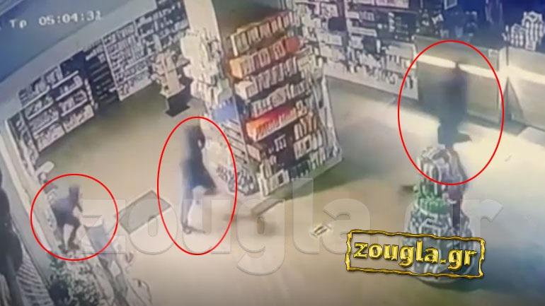 Video-ντοκουμέντο: Εισέβαλαν σαν αίλουροι και άδειασαν φαρμακείο στο Μοσχάτο - Φωτογραφία 1