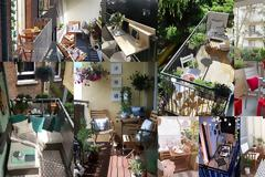 7 Tρόποι για να διαμορφώσετε λειτουργικά ένα μικρό μπαλκόνι για ...δύο