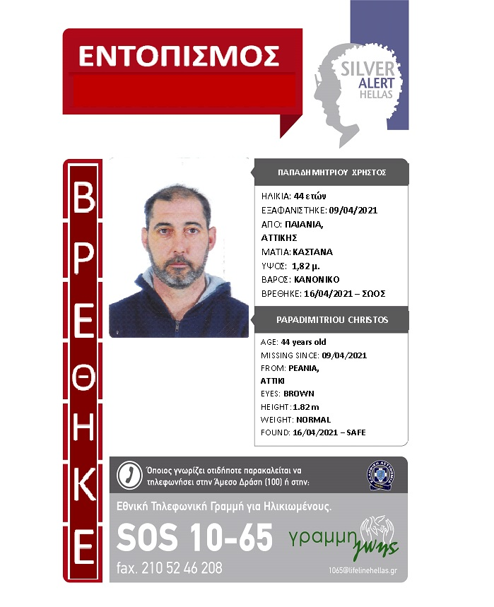 Βρέθηκε σώος ο 44χρονος από την Παιανία - Φωτογραφία 1