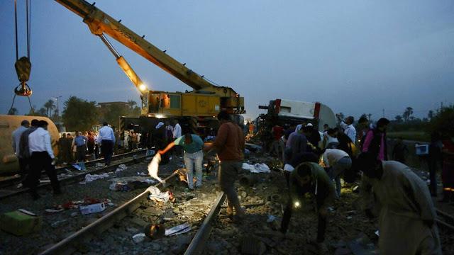 Αίγυπτος: Τουλάχιστον 11 νεκροί και 100 τραυματίες από εκτροχιασμό τρένου - Φωτογραφία 1