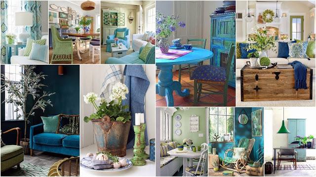 Διακοσμήσεις σε Μπλε-Πράσινο - Φωτογραφία 1