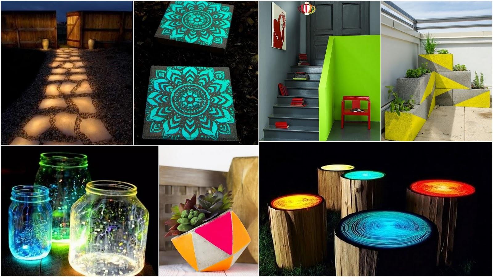 DIY Ιδέες-Κατασκευές με χρώματα που φωσφορίζουν στο σκοτάδι - Φωτογραφία 2