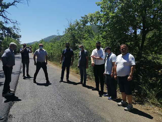 Ξεκίνησαν οι εργασίες ασφαλτόστρωσης του δρόμου Τσαπουρνιάς - Χρυσοβίτσας. - Φωτογραφία 1