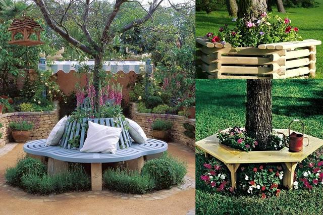 Παρτέρια κάτω από δέντρα. Ιδέες διαμόρφωσης - σχεδιασμός - Φωτογραφία 15