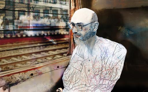 Ο συγγραφέας Ισίδωρος Ζουργός «συναντά» στο τρένο για τη Φλώρινα τον Θόδωρο Αγγελόπουλο. - Φωτογραφία 1