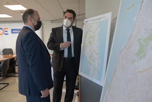 Η  πορεία των στρατηγικής σημασίας σιδηροδρομικών έργων ύψους 4 δις. € στο επίκεντρο της συνάντησης του γ.γ. Υποδομών με τον Πρόεδρο και Διευθύνοντα Σύμβουλο της  ΕΡΟΣΕ. - Φωτογραφία 2