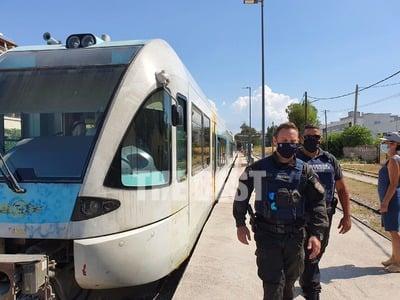 Πάτρα: Αστυνομικός έλεγχος στον Προαστιακό- Δεν είχαν μάσκα κι έχασαν το μπάνιο τους. - Φωτογραφία 3
