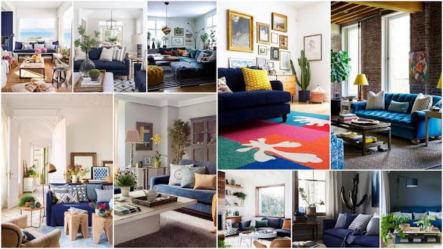 20+ Εντελώς διαφορετικά Σαλόνια με Μπλε Καναπέδες - Φωτογραφία 1