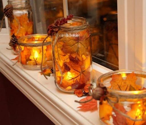 Πως θα φτιάξετε DIY Φθινοπωρινά Κηροπήγια με Φυσικά Φύλλα - Φωτογραφία 1
