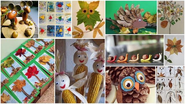 Φθινοπωρινές Κατασκευές για Παιδιά από φυσικά υλικά - Φωτογραφία 1