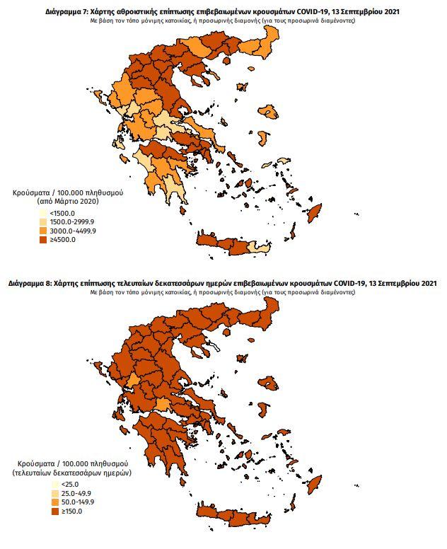Κορoνοϊός: Μεγάλη αύξηση θανάτων. Η Θεσσαλονίκη πλησιάζει την Αττική σε αριθμό κρουσμάτων. Ο χάρτης - Φωτογραφία 1
