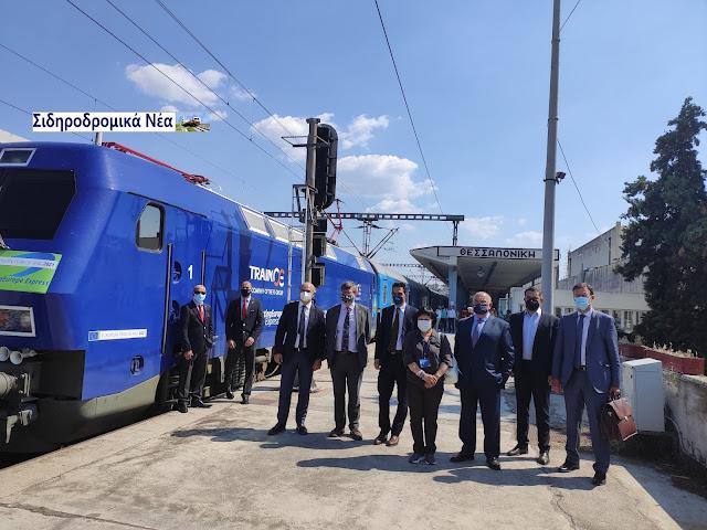 Αναχώρηση από τη Θεσσαλονίκη του Connecting Europe Express. Εικόνες και βίντεο. - Φωτογραφία 2