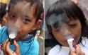 Τρίχρονοι «καπνιστές» στην Ινδονησία - Φωτογραφία 3