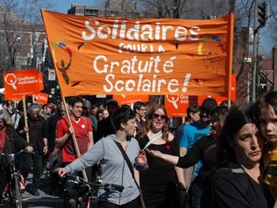 Δυναμικές διαδηλώσεις φοιτητών στον Καναδά… - Φωτογραφία 1