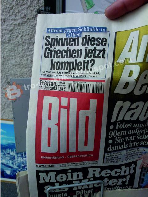 ΑΠΙΣΤΕΥΤΗ είδηση από την γερμανική εφημερίδα Bild. Είναι τρελοί αυτοί οι Γερμανοί! - Φωτογραφία 2