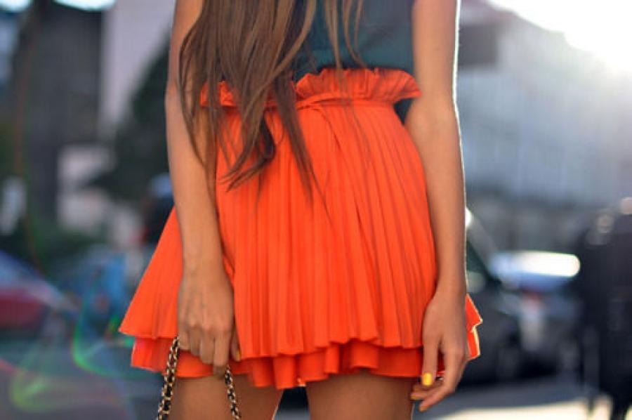 Юбка апельсин своими руками