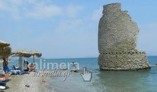 Η πανέμορφη παραλία του Αγίου Ανδρέα στην Κυνουρία με τον ανεμόμυλο μέσα στη θάλασσα! [video] - Φωτογραφία 1