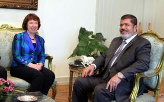 Η Κάθριν Άστον συναντήθηκε με τον Μόρσι - Φωτογραφία 1