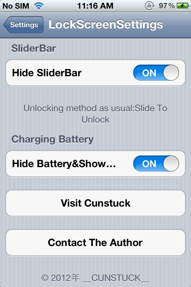 LockScreen Settings:  Cydia tweak  update v1.5 - Φωτογραφία 2
