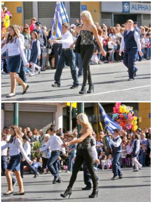 Ξανθιά δασκάλα στην παρέλαση της Αθήνας... Ποιός είπε να καταργηθούν οι μαθητικές παρελάσεις; - Φωτογραφία 2