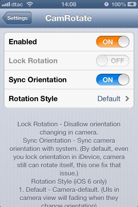 CamRotate: Cydia tweak update 1.0-8 - Φωτογραφία 2