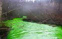 Το ποτάμι έγινε πράσινο και …φωσφορίζει! - Φωτογραφία 3