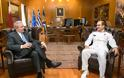 Συνάντηση ΥΕΘΑ Δημήτρη Αβραμόπουλου με τον Αρχηγό του Γενικού Επιτελείου Ναυτικού του Κατάρ