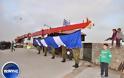 Έπαρση της σημαίας 150 τ.μ. στο λιμάνι της Χίου - Εντυπωσιακή και υπερήφανη [video + photos] - Φωτογραφία 2