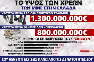 Όχι δεν είναι ψέμα - Δείτε αναλυτικά τα αστρονομικά χρέη των Ελληνικών καναλιών και θα φρίξετε... [photos] - Φωτογραφία 1