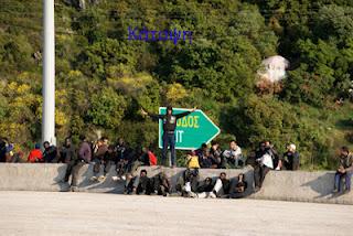 Κυνηγητό αστυνομίας και λαθρομεταναστών μέσα στο δάσος της Ηγουμενίτσας! - Φωτογραφία 1