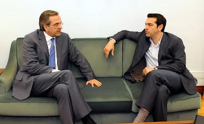 Συμφωνία για ντιμπέιτ Σαμαρά - Τσίπρα - Φωτογραφία 1